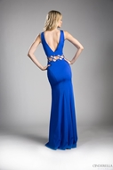 Picture of Women's Long Fitted Beading Sleeveless Mermaid Evening Gown Dress