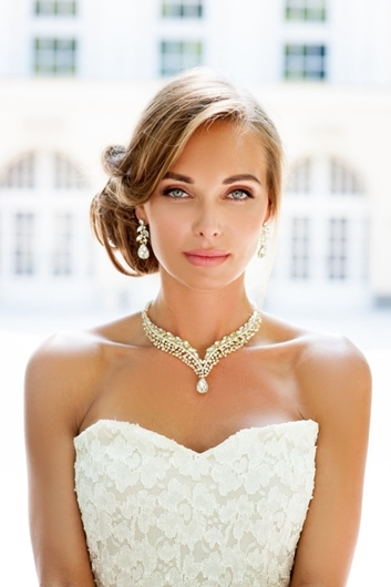 Picture of Silver or gold Bridal backdrop necklace